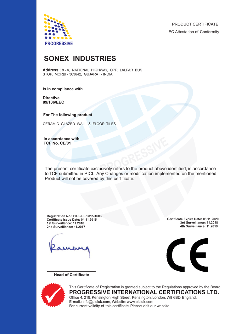Tile Calculator - Sonex Gold   Manufacturer of 10\